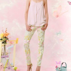 Alice + Olivia Fierra Multi Floral Denim pants NWT
